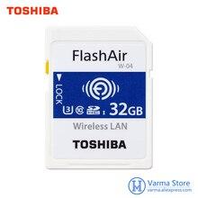 توشيبا WIFI SD بطاقة الذاكرة عالية السرعة بطاقة SLR كاميرا يدعم 4 K اللاسلكية WIFI بطاقة 32 GB