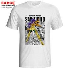 Scorpio Milo T Shirt Gold Saints Anime Saint Seiya Knights of the Zodiac Casual Novelty T-shirt Pop Print Fashion Unisex Tee
