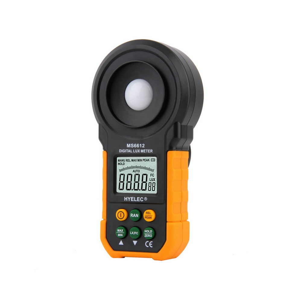 1pc Professional MS6612 Digital Luxmeter 200,000 Lux Light Meter Test Spectra Auto Range Brand New  Free Shipping new professional lx1010bs digital light meter 100000 handheld lux meter