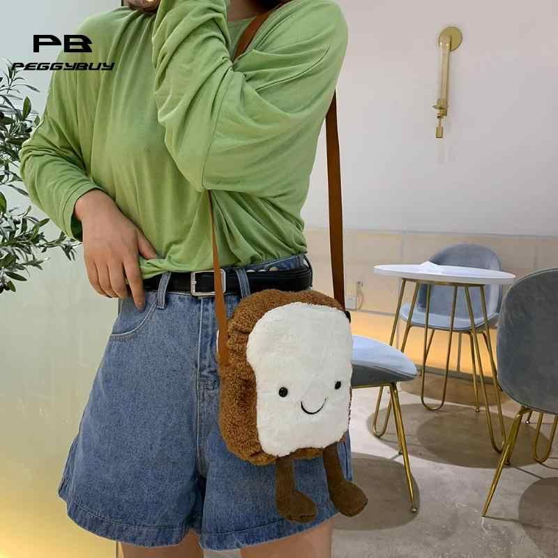 Mulheres Crossbody Sacos De Ombro Bolsas Mensageiro de Lã bonito Em Forma de Brinde