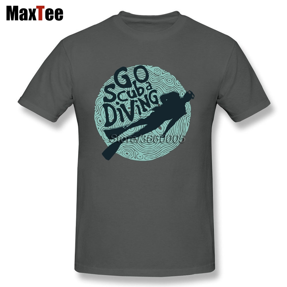 Go Scuba Diving Shirt Mens Rock Custom Short Sleeve Boyfriends XXXL Family Love Diving D ...