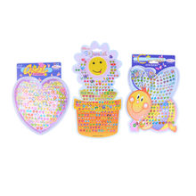 1Sheet Earring Cartoon Reward Crystal Stickers ear Reward stick Wonderful kindergarten face stickers Children Boy Girl Stickers(China)
