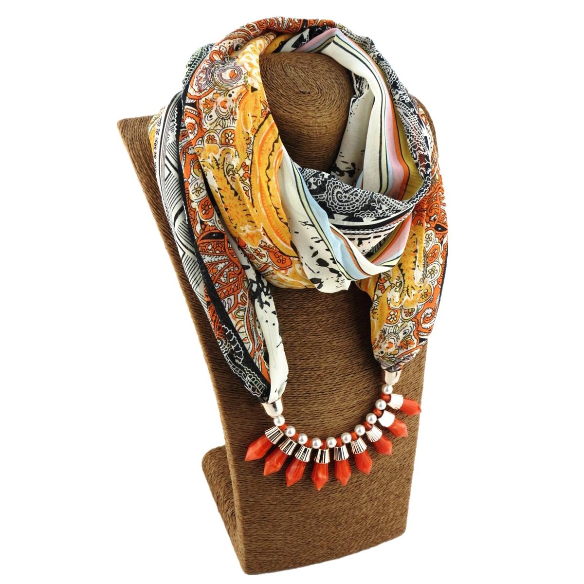 Мода и красочные печатных шифон круглый воротник yakeli ожерелье шарф MS Джокер Женские персонажи