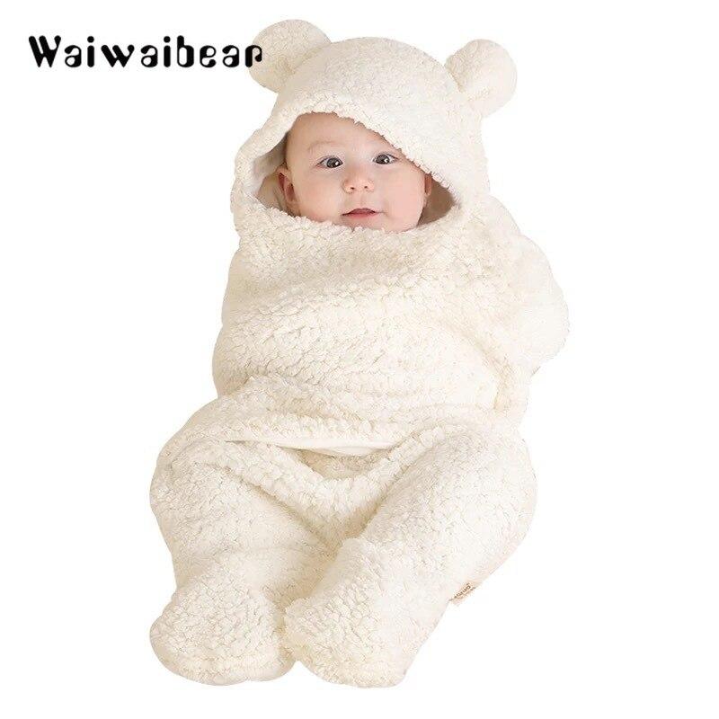 Baby Nachtwäsche Neugeborenen Puppe Winter Korallen Fleece Infant Schlaf Tragen Warme Roben Komfortable Schlaf Tragen Für Baby Jungen Und Mädchen