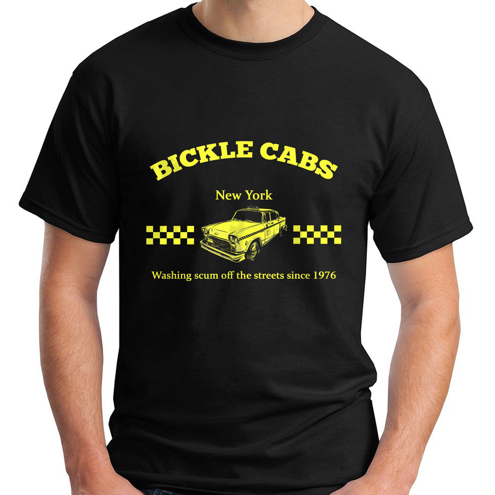 Bickle Cabs T Shirt Inspired by Taxi Driver Cult 70s Movie T-Shirt Size S-5XL Man Fashion Round Collar T Shirt top tee Punk Top