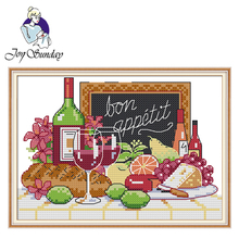 Joy Sunday,Wine,cross stitch embroidery set,cross stitch pattern,Needlework counted cross-stitch patterns,Chinese cross stitch joy sunday wine cross stitch embroidery set cross stitch pattern needlework counted cross stitch patterns chinese cross stitch