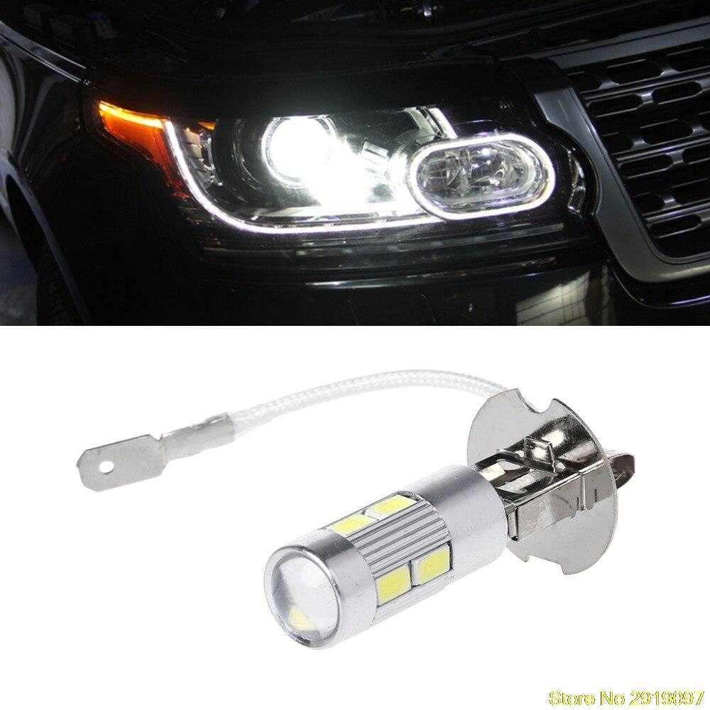 Aluminum H3 White 10 LED 5630 SMD Fog LED Auto Bulb Tail Turn Driving Light High Beam