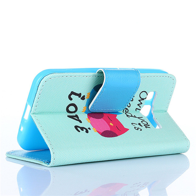 Magnetic Stand Holder Side Flip PU Leather Wallet Cover For Samsung Galaxy Core Prime Prevail LTE G360 G3608 G3609 case