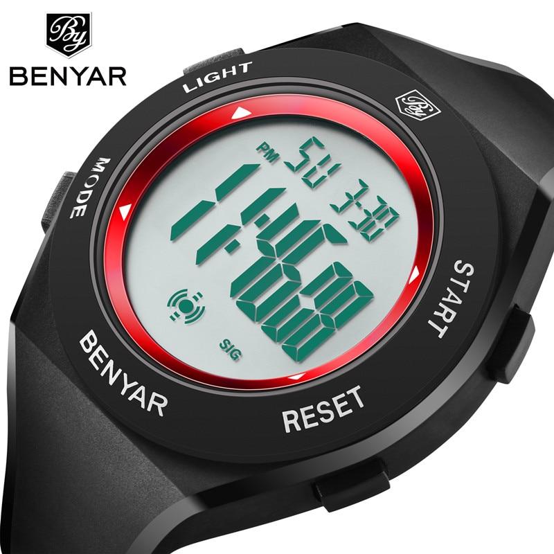 Benyar New electronic LED watch fashion sports waterproof men's watch digital display Luminous Alarm clock children's wirstwatch цена и фото