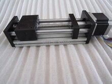 CNC GGP 1610 ballscrew Подвижный Стол полезный ход 400 мм Направляющая XYZ оси Линейного движения + 1 шт. nema 23 шаговый двигатель