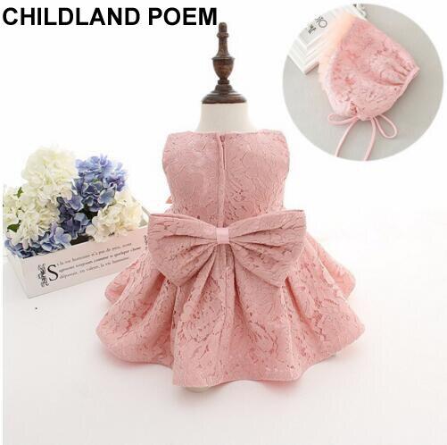b3ed28a3f4 Newborn baby dziewczyny ubierają 1 rok dziewczynka sukienka urodziny baby  girl chrzest chrzciny suknie księżniczka koronki dziecko sukienka z  kapelusz w ...