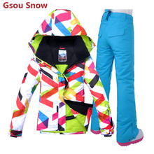 Gsou Snow cool winter women snowboard jackets brand ski wear outlet female ski jackets and pants free shipping