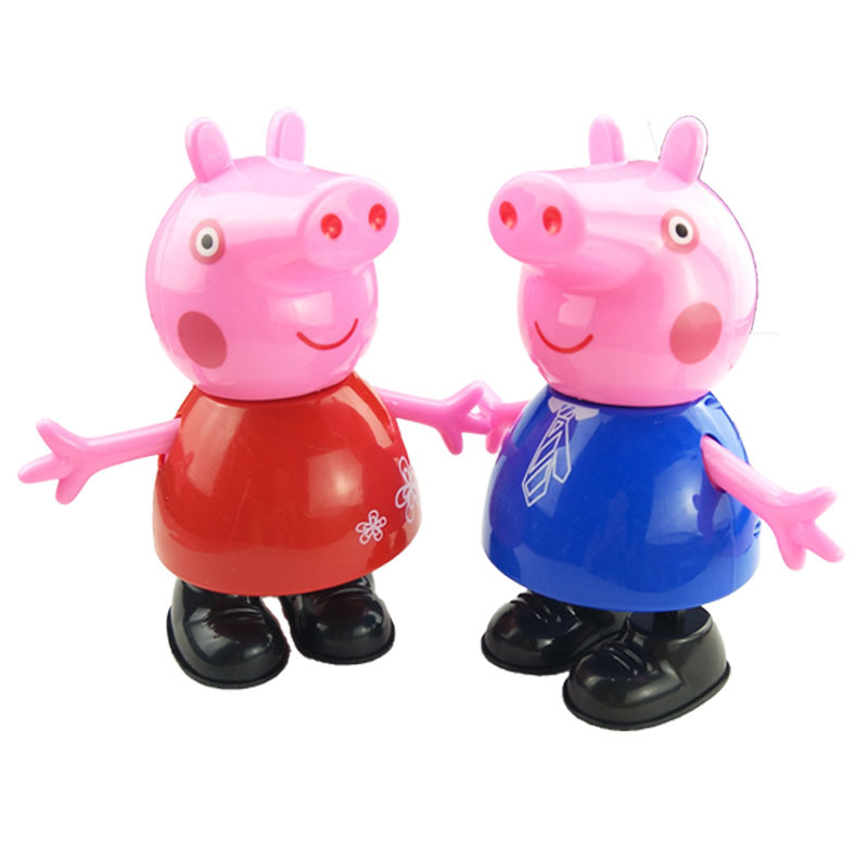 peppa pig Action Toy Figures Singing and dancing cartoon doll children's electric toys for children