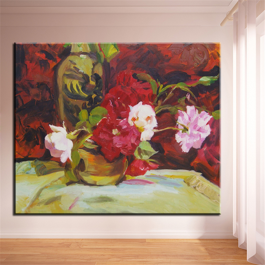 No frame home printed vase red white flower oil painting canvas no frame home printed vase red white flower oil painting canvas prints wall art pictures for living room decorations gumiabroncs Image collections