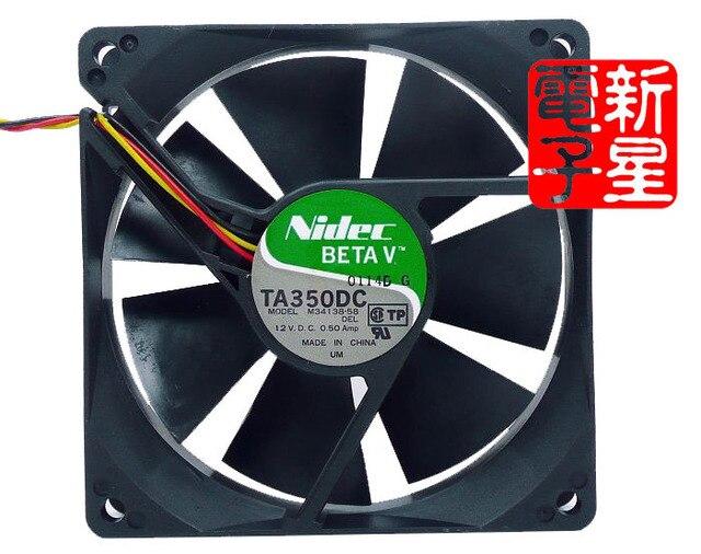 Original 0.5A TA350DC 9 9cm 9025 cm large air volume double ball fan