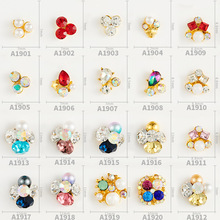 100pcs Nail jewelry handmade heap drill alloy nail diamond big  decorative rhinestone wholesale,y