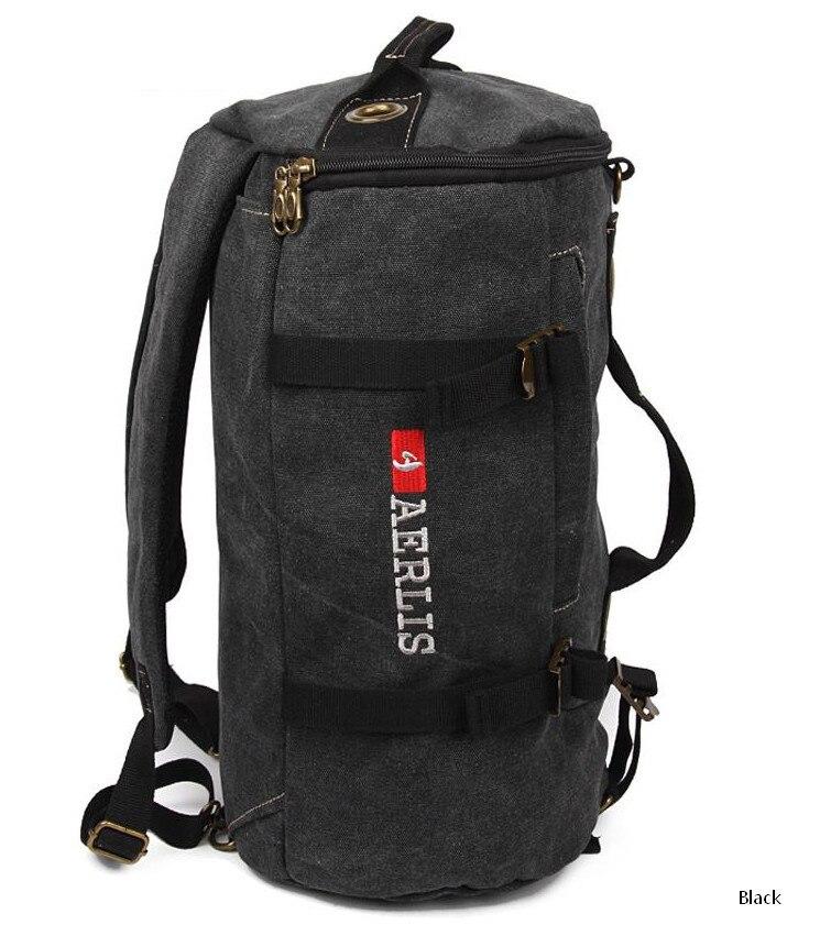 men 39 s canvas military backpacks vintage shoulder bag multi. Black Bedroom Furniture Sets. Home Design Ideas