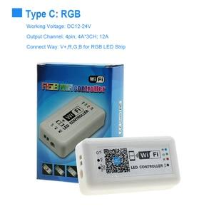 Image 3 - DC12V 24V MINI WIFI RGB/RGBW/RGB WW CW kontroler taśmy ledowej Smartphone i tryb timera magia domu Mini Wifi RGB LED kontrolery