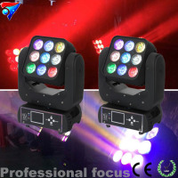 2pcs Lot 3 3 RGBW Moving Head Light 9 10Watt Led Matrix Blinder LED Blinder Professional