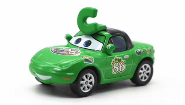 Disney Pixar Cars No 86 Green C Hicks Fans Metal Cast Toy