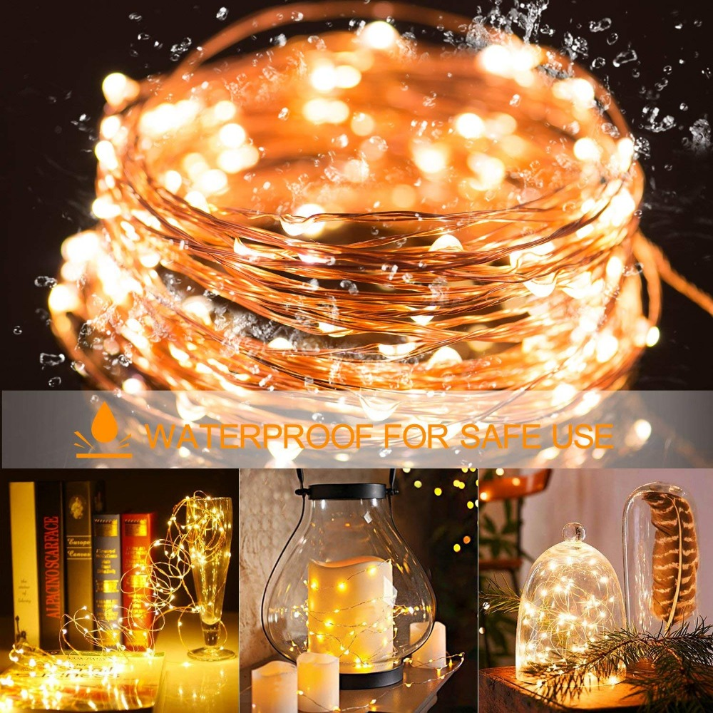 2M 5M10M Strip Light Led String Light Cooper Wire 3AA battery Christmas Light For Garland Holiday Fairy Wedding Party Decoration 5