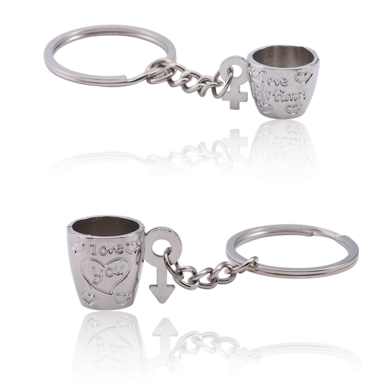 1-Pair-Trendy-Couple-Keychain-3D-Silver-Coffee-Cup-Key-Chain-Lovers-Carved-Love-Heart-Key