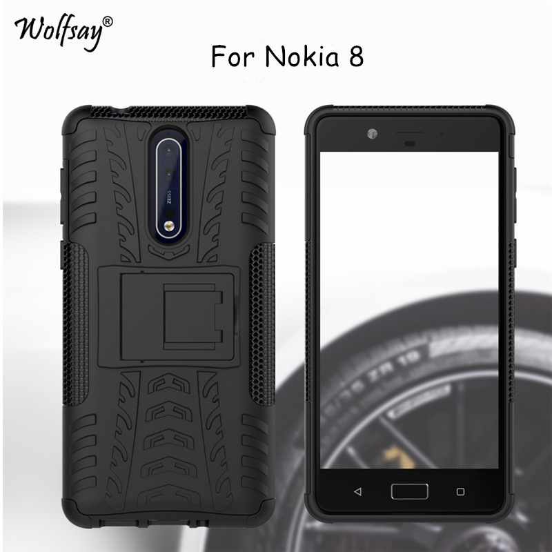 Wolfsay Case For <font><b>Nokia</b></font> 8 Phone Case Fashion Thick Silicone Hybrid Armor Case For <font><b>Nokia</b></font> 8 Cover For <font><b>Nokia</b></font> 8 5.3