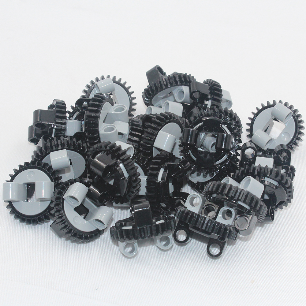 Building Blocks BulkTechnic Parts 2pcs TECHNIC TURNTABLE Z28 Compatible With Lego For Kids Boys Toy