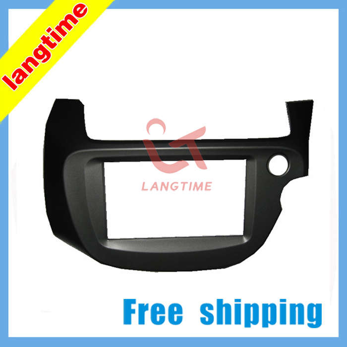 Free shipping-Car refitting DVD frame,DVD panel,Dash Kit,Fascia,Radio Frame for 2008 Honda Fit Jazz ( Right Hand), 2DIN free shipping car refitting dvd frame dvd panel dash kit fascia radio frame audio frame for 2012 kia k3 2din chinese ca1016