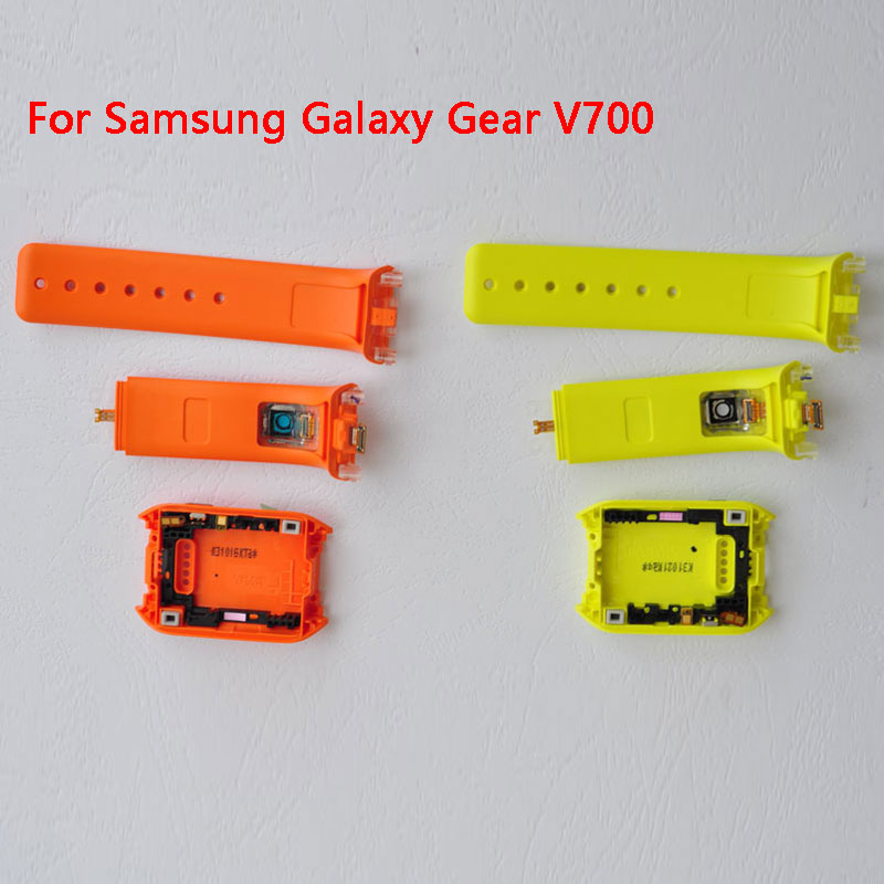 BINYEAE New For Samsung Galaxy Gear V700 SM-V700 Rear Housing Back Case Watch Band With Camera Hole+Silicone Strap Band