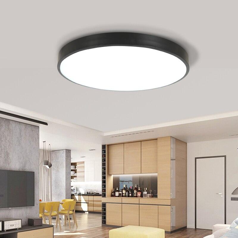 Modern ceiling light Round BlackLED ceiling lamp Indoor Lighting ...