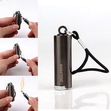 Survival Tool Lighter Kit for Outdoor Keychain Flint Fire Starter Shell Permanent Match Striker Key Chain Portable Free Fire