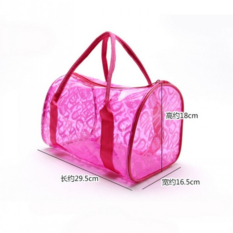 LHLYSGS Brand PVC Waterproof Transparent Cosmetic Bag Women Travel  Organizer Large Necessary Beautician Toiletry Makeup Bag free shipping  worldwide 371dbfb1c988e