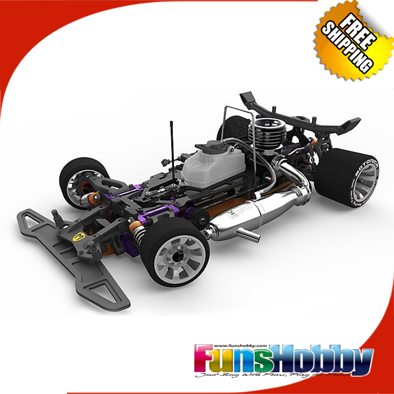 Italy Motonica RC Nitro Car Kit 1/8 4WD Gas Power Racing On Road Cars P81 RSII Free Shipping image