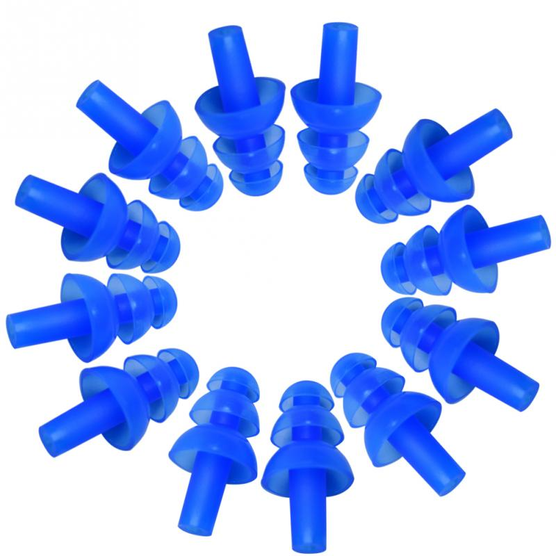 6 Pair Waterproof Swimming Silicone Swim Earplugs for Adult Swimmers Children Diving Soft Anti-Noise Ear Plug