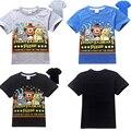 Nueva ropa de los muchachos niños de dibujos animados camisetas cinco noches en freddy ropa camiseta ropa de los cabritos camiseta de los muchachos 5 freddys tops