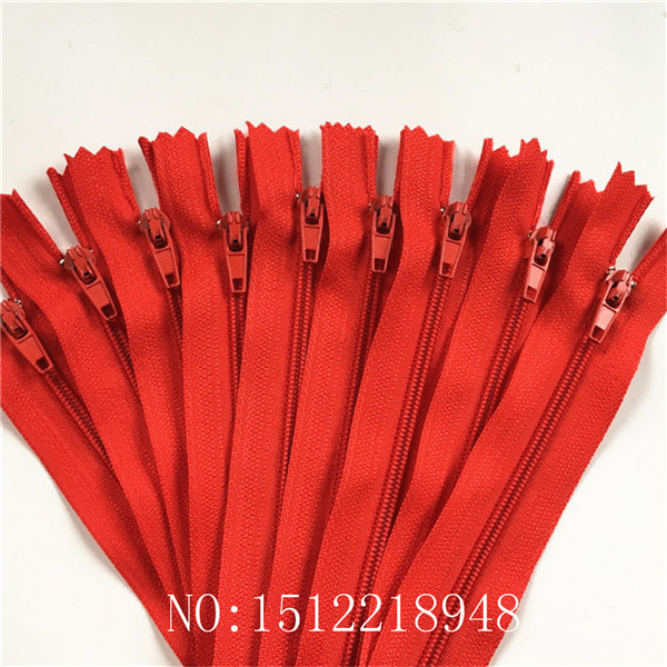 WKXFJJWZC 60pcs Nylon 3# Invisible Zippers Tailor Sewing Tools Garment Accessories 12 Inch (30CM)Closed End Invisible Zippers 20 Color Red