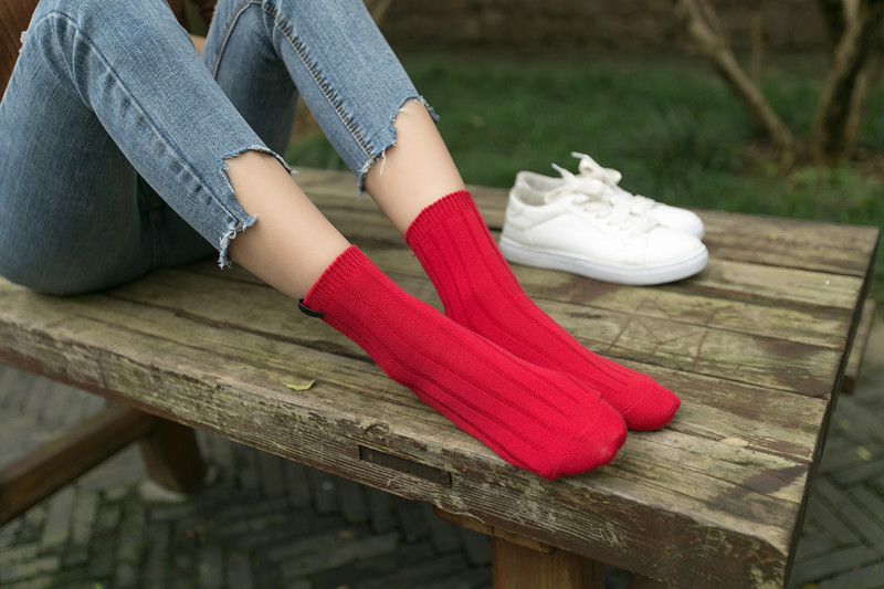 Women Socks Wool Upscale Soft Warm Winter Short Socks Compression Thick Brand Boot Ladie ...