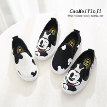 Fashion Children Running Shoes Canvas Lightweight Boys Girls Male Cartoon AB Style Rubber Wearproof Sport Shoes Kids Sneakers