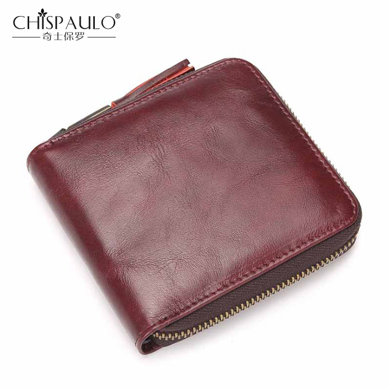 Women Genuine Leather Wallets Card&ID Holder Coin Ladies Purse High Quality Leather Short Mini Wallet Vintage Female Clutch Bags mens wallets black cowhide real genuine leather wallet bifold clutch coin short purse pouch id card dollar holder for gift