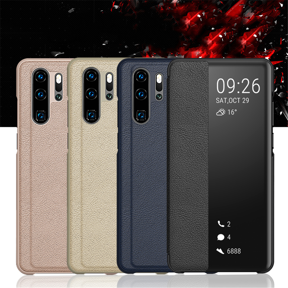 Clear View Smart Mirror Phone <font><b>Case</b></font> for <font><b>Huawei</b></font> P30 P20 P10 Pro <font><b>Mate</b></font> 20 <font><b>10</b></font> 9 <font><b>Lite</b></font> Honor 8X PU Leather Flip Folio <font><b>Cases</b></font> <font><b>Full</b></font> <font><b>Cover</b></font> image