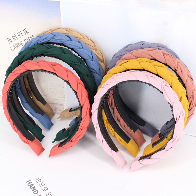 korean fashion twisted braid hairband women girls hair head hoop band headband accessories for women scrunchy headdress headwear