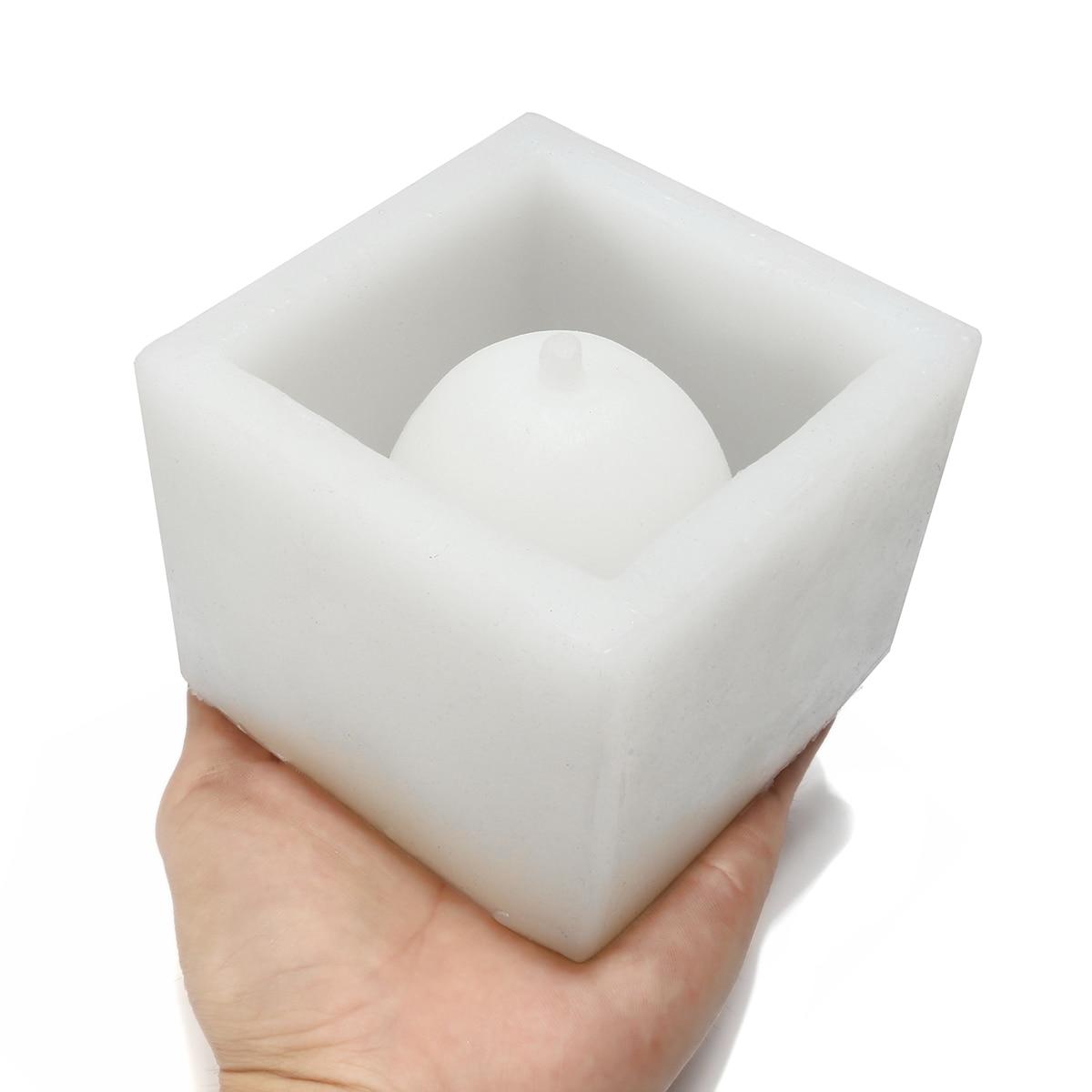 Cube Béton Pot De Fleur Silicone Moule BRICOLAGE Jardin Planteur Vase Moule Outils Artisanat Succulentes Bonsaï De Bureau Décoration Graden