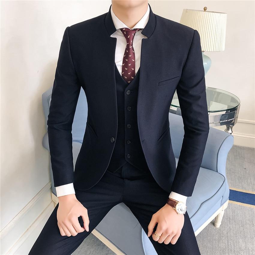 Pure-Color-Men-Formal-Suit-Three-piece-Sets-Size-S-3XL-Business-Wedding-Banquet-Men-s (4)