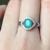 Romántico anillo de esmeralda Colombiana esmeralda natural anillo para dama natural esmeralda esmeralda joyería de plata anillo de compromiso para la muchacha