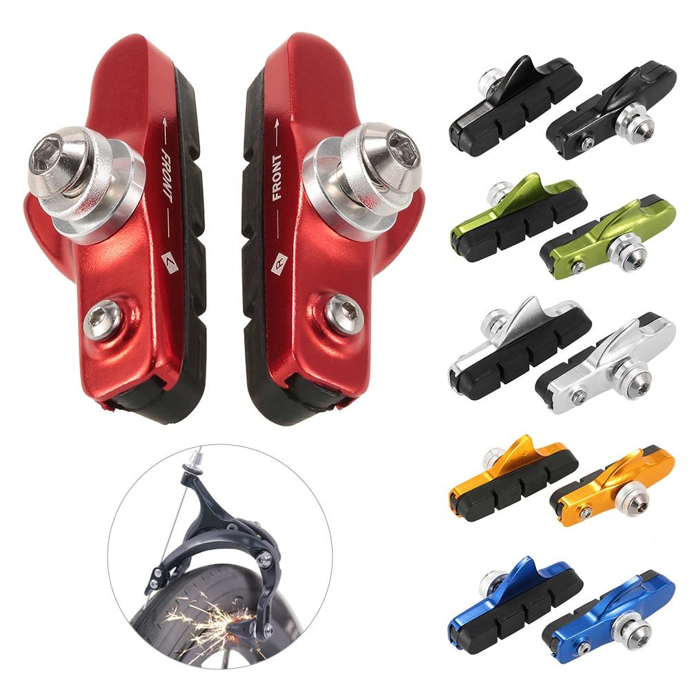 2x Bike Bicycle Cycling  MTB Road V Brake Holder Rubber Pads Shoes-Blocks