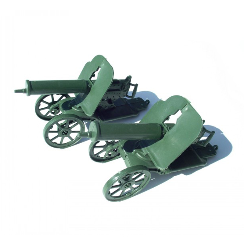 Toys & Hobbies Practical Maxim Gun 13*4.5*7cm Sand Table Model Military Model Static Bulk Components Simulation Of Plastic Toys 2pcs/set Free Shipping Can Be Repeatedly Remolded.