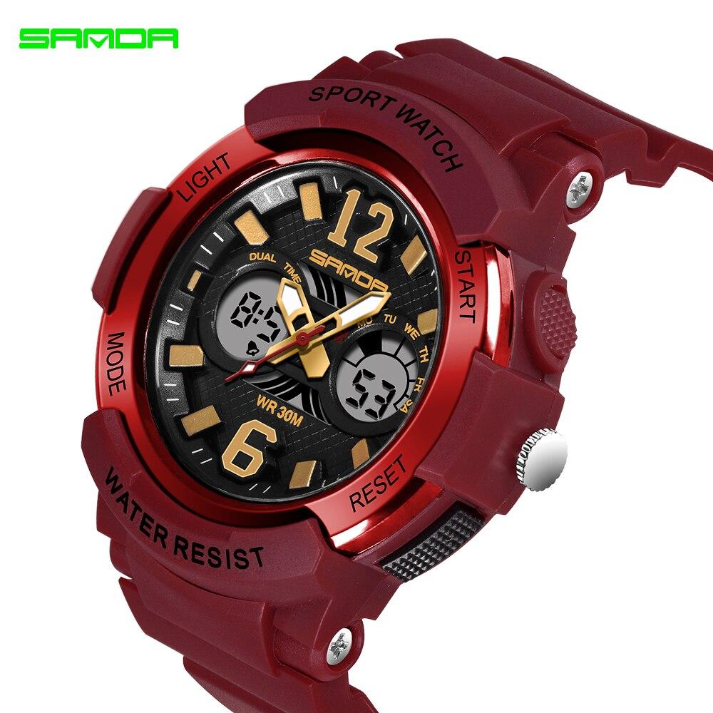 2020 SANDA marque électronique Sport Montre femmes montres à Quartz décontracté étanche Montre-bracelet numérique LED Femme horloge Montre Femme 4