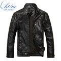 2016 осень новые товары мужские кожаные куртки Jaqueta COURO Masculina бомбардировщик дубленки мужские случайные кожаная куртка M-XXXL