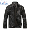 2016 autumn new goods men's leather jacket Jaqueta COURO Masculina bomber sheepskin coats men's casual leather jacket M-XXXL